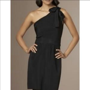 The Limited One Shoulder, Bow, Black Dress, size 0
